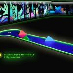 Schwarzlicht-Mini-Golf Bahn 1