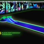 Schwarzlicht-Mini-Golf Bahn 6