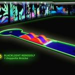 Schwarzlicht-Mini-Golf Bahn 7