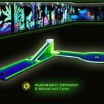 Schwarzlicht-Mini-Golf Bahn 9