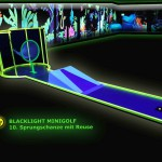 Schwarzlicht-Mini-Golf Bahn 10