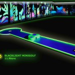 Schwarzlicht-Mini-Golf Bahn 11