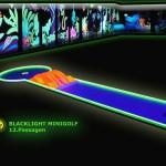 Schwarzlicht-Mini-Golf Bahn 12