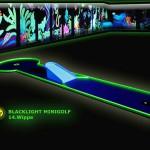Schwarzlicht-Mini-Golf Bahn 14