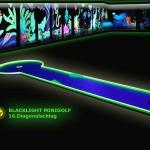 Schwarzlicht-Mini-Golf Bahn 16