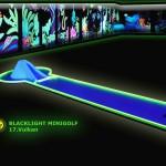 Schwarzlicht-Mini-Golf Bahn 17