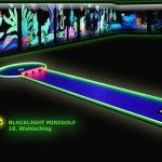 Schwarzlicht-Mini-Golf Bahn 18