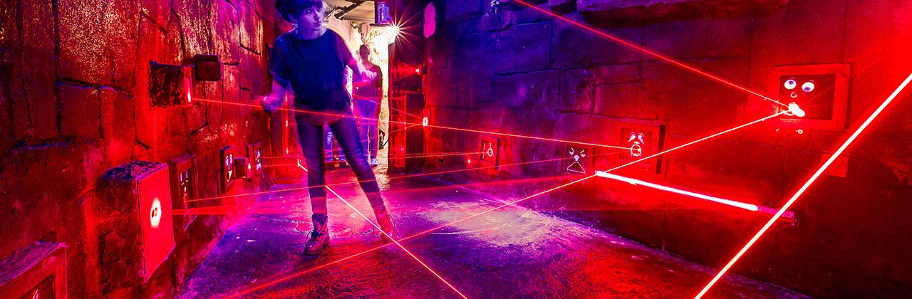 Slider – Interaktive Laserspiele